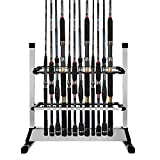 Cheap Airkoul 24-rod Portable Fishing Rod Rack Aluminum Fishing Rod Holder Rod Stand Fishing Rods Organizer