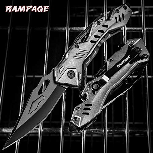 United Cutlery Rampage Grey Atomica Assisted Opening Pocket Knife