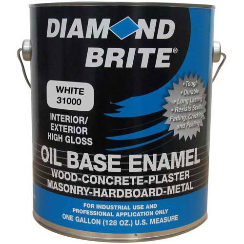 Diamond Brite Paint 31000 1Gallon Oil Base All Purpose Enamel Paint   White