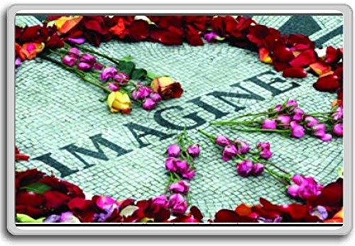 Imagine Strawberry Fields John Lennon Memorial Central Park New York - Motivational Quotes Fridge Magnet