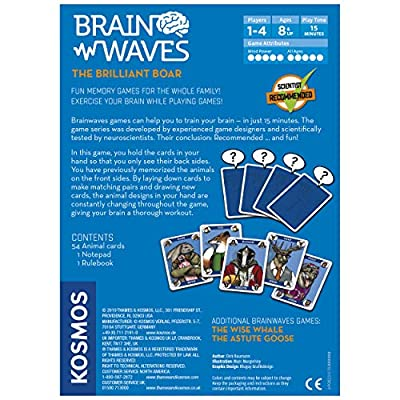 Brainwaves: The Brilliant Boar - A Kosmos Game from Thames & Kosmos | Fun, Scientist Approved, Family-Friendly Games to Sharpen You Mind & Train Your Brain, for Ages 8+: Toys & Games