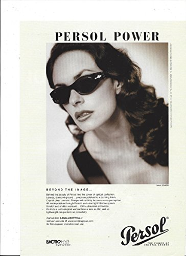 PRINT AD With Maria Grazia Cucinotta For Persol Eyeglasses: Beyond The - Glasses Image Eye