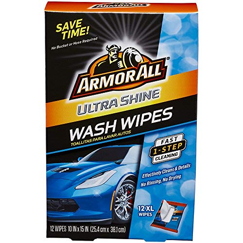 Armor All Ultra Shine Car Wash Wipes (12 count), 18240 (Best Car Glass Wipes)
