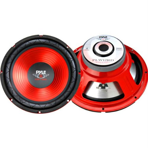 12 Red Cone High Performance Subwoofer - 800W Max-T51978 (Red Cone Pyle Sub compare prices)