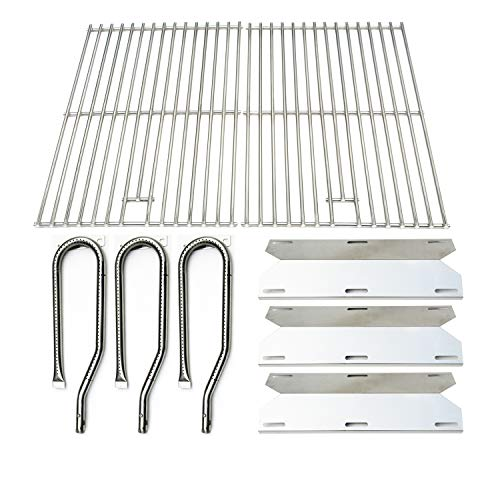 Jenn Air Burners Grill - Direct store Parts Kit DG131 Replacement for Jenn Air Gas Grill 720-0336 (Stainless Steel Burner + Stainless Steel Heat Plate + Solid Stainless Steel Cooking Grid)