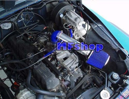 - 1991 1992 1994 1995 Jeep Wrangler 2.5L 4.0L Air Intake Filter Kit System (Long Version) (Blue Filter & Accessories)