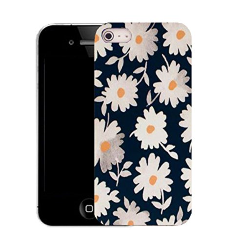 Mobile Case Mate iPhone 5c clip on Silicone Coque couverture case cover Pare-chocs + STYLET - daisy arrangement pattern (SILICON)