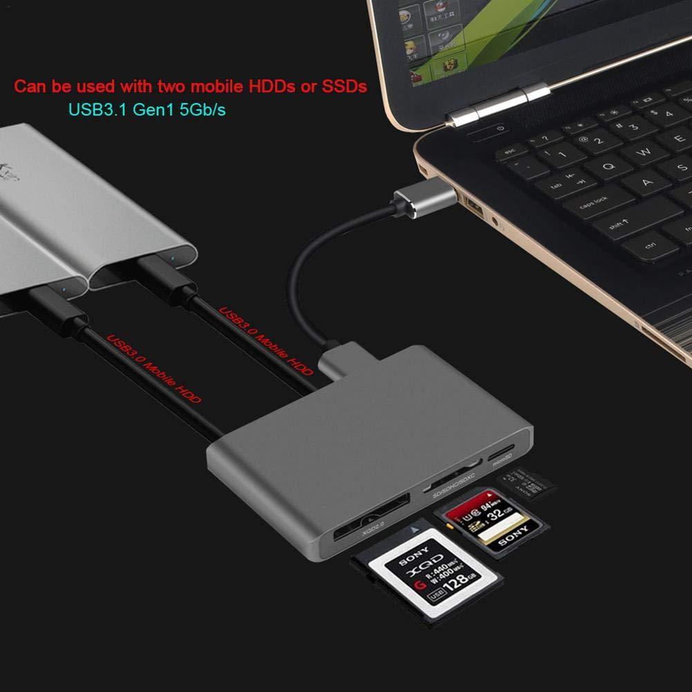WXGY XQD Lector de Tarjetas SD, Adaptador de Tarjeta USB 3.0 ...