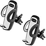 CloudValley [2 PACK] Cell Phone Car Air Vent Mount Holder Cradle Compatible with iPhone X 8 7 Plus 6s 6 Plus 5s 5 SE Samsung Galaxy S9 S8 Edge S7 S6 S5 S4 LG Google Nexus Sony and More
