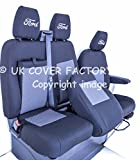 CUSTOM TREND LIMITED SPORTS Drivers + Twin passenger van seat covers- 1) Driver seat with arm rest cover / Passenger seat - coffee table access/ Two storage compartments - Carlow Tweed Fabric