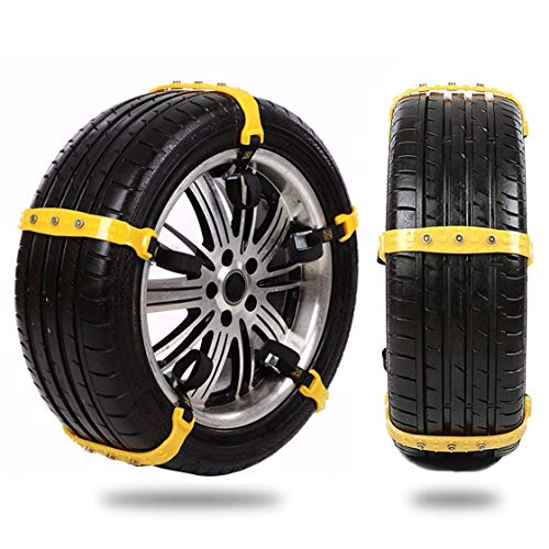 Garne-T Anti Slip Tire Chains Snow Tire Chains Car Emergency Thickening Anti-Skid Chain, Fit for Most Car/SUV/Vans/Truck, Set of 10 with Free Snow Shovel and Gloves (Style 1) by Garne-T (Image #1)