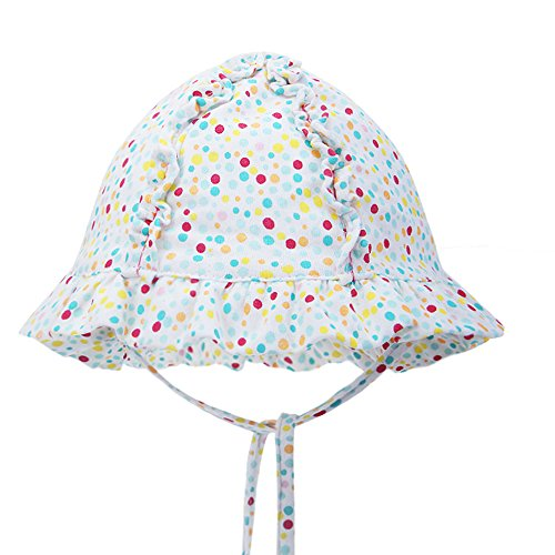 vivobiniya-newborn-dot-sun-hats-toddler-girl-princess-hat-100cotton-0-2y-46cmhead-circumference181in