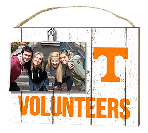 """KH Sports Fan 10""""x8"""" Tennessee Volunteers Clip It Weathered Logo Collage Photo Frame"""