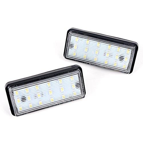 - Astra Depot 1 Pair 6000K White 18 1210-SMD LED Direct Fit License Plate Light Kit for Lexus LX470 LX570 GX470 Toyota Land Cruiser