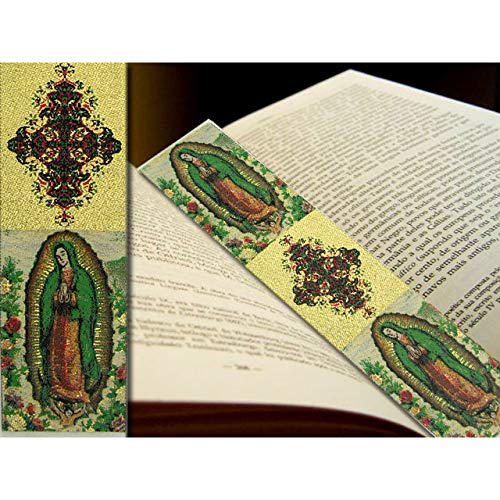 World Faith Book Marker Lady of Guadalupe Tapestry Icon Book Marker 9-1/8 x 2 Inches