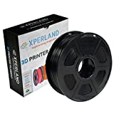 XPERLAND 3D Printer PLA Filament BLACK 1.75 mm, Dimensional Accuracy +/- 0.02 mm, 1KG (2.2lbs) Spool, For Most 3D Printers and 3D Pens - 1.75mm Black