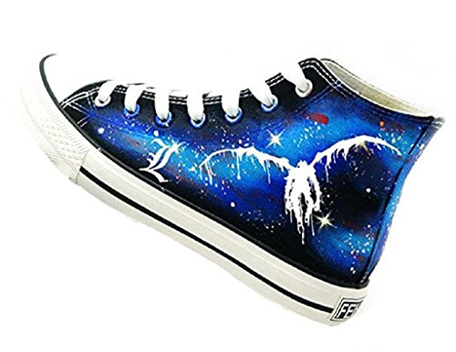 Bromeo Death Note Unisexe Toile Salut-Top Sneaker Baskets Mode Chaussures Lumineux