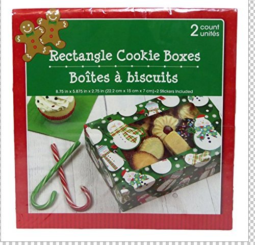 Christmas Baked Goods Gift Boxes 2 Ct Snowmen Rectangle