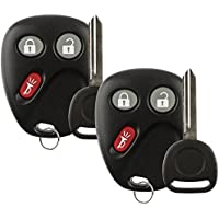 Discount Keyless Replacement Key Fob Car Remote and Uncut Ignition Key Compatible with LHJ011, B102 (2 Pack)