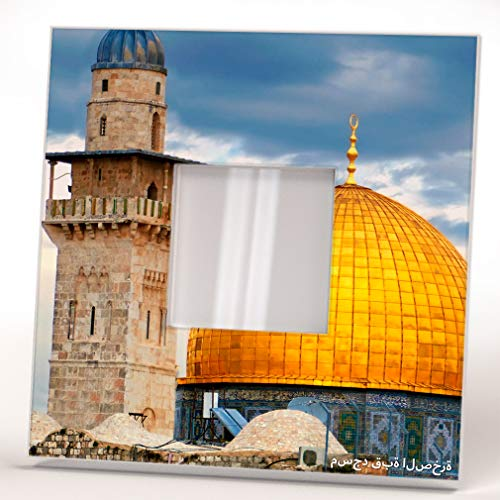 Al-Aqsa Mosque Dome of Rock Old City Jerusalem Wall Mirror Framed Printed Art Home Room Decor Gift