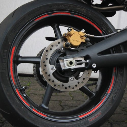 gold 13 Segmente 7mm Felgenrandaufkleber GP Style Motorrad