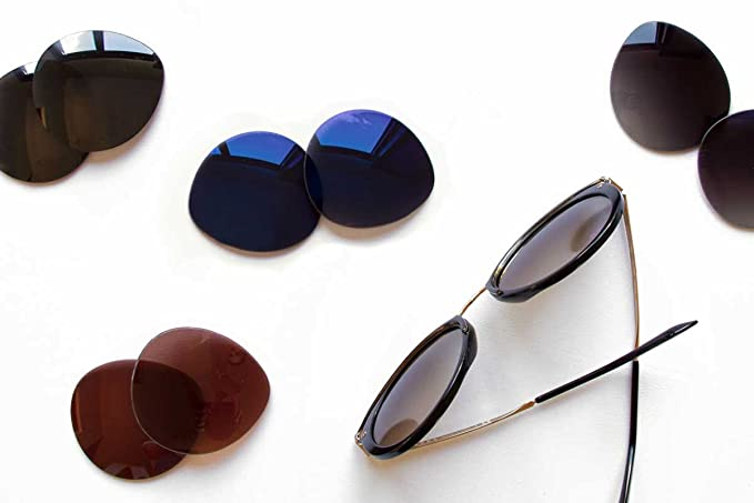 4471f923ca Amazon.com  SFx Replacement Sunglass Lenses fits Maui Jim MJ219 Punchbowl  54mm Wide (Ultimate Black Gradient Hardcoat Pair-Polarized)  Clothing