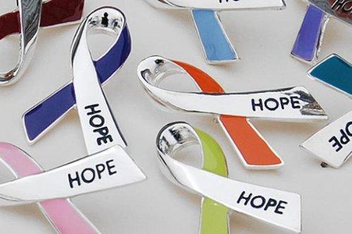 Cancer Awareness Hope Ribbon Pin...