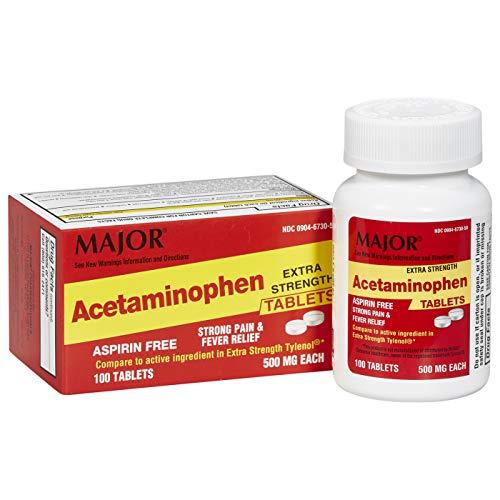 Mua Major Acetaminophen 500mg Extra Strength Tablets 100CT trên Amazon Mỹ chính hãng 2021 | Fado