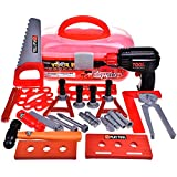 FUN LITTLE TOYS 36 Pieces Kids Tool Set, Tool Box for Boys and Toddlers