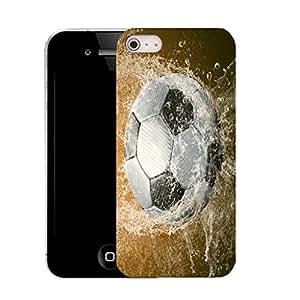 Carcasa con funda con tapa para apple iphone 5c - agua de fútbol