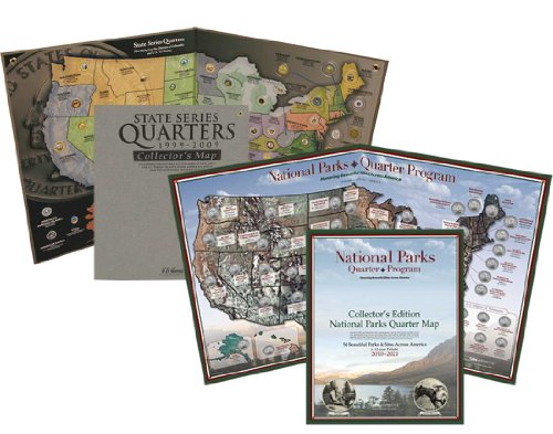 - Quarter Map Combo Pack: State and National Parks