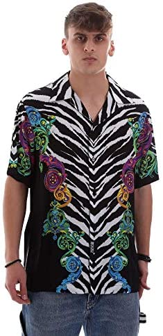 Versace Jeans Couture Herren Kurzarmhemd Nero