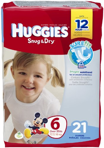 Huggies Snug and Dry Diapers - Size 6 - 21 ct