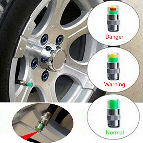 Tire Pressure Monitor Valve Stem Caps, Pack of 4 (2.0 Bar 30PSI)