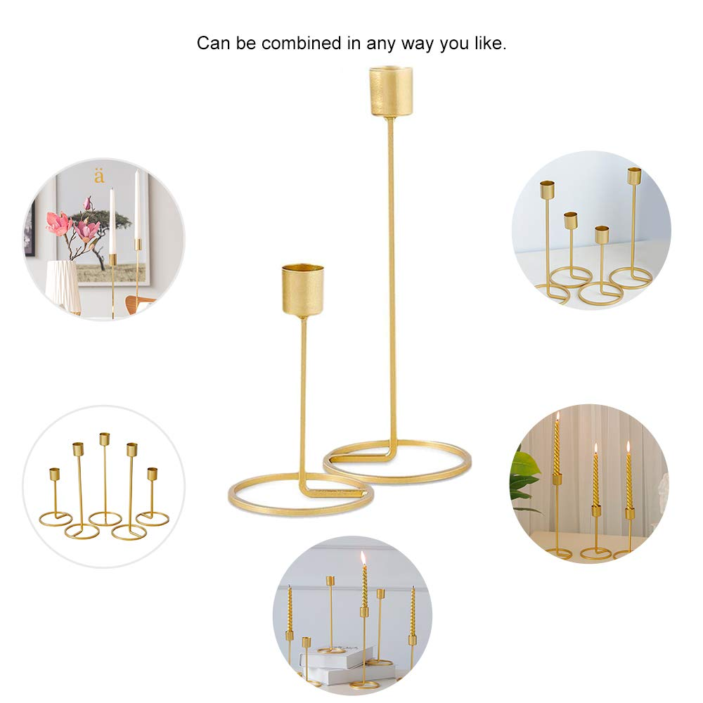 25 cm und 15 cm H/öhe Gold Kerzenhalter Metall Kerzenst/änder Moderne Metall Kerzenst/änder Baffect Tisch Kerzenhalter Hochzeit Weihnachten Tischdekoration 2 st/ücke