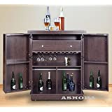 South Shore Vietti Bar Cabinet with Bottle And Glass Storage ...