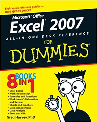 Excel 2007 All-In-One Desk Reference For Dummies: Greg Harvey ...