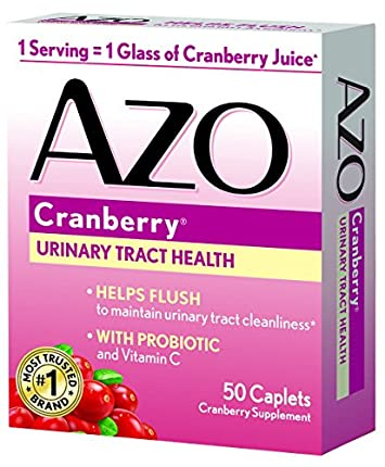 AZO All Natural Concentrated Cranberry Tablets, 50 Count Pack of 3