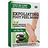 #9: Exfoliating Foot Peel Mask - 2 Pairs of Booties for Smooth and Soft Feet - Peeling Away Rough Heels Dead Skin Cells and Calluses - Aloe Scented Natural Formula for Silky Soft Feet