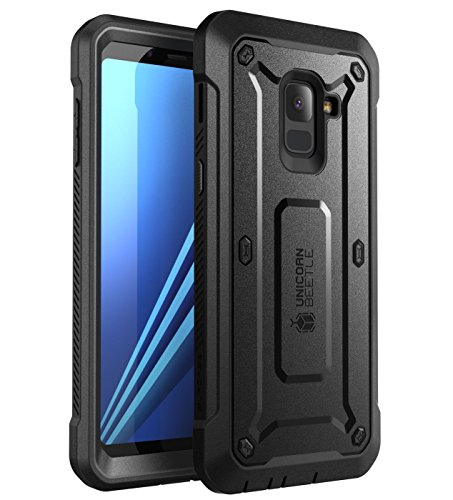 Galaxy A8 Plus 2018 Case SUPCASE Samsung Galaxy A8 Plus / A8+ 2018 Release [Unicorn Beetle Pro] Rugged Holster Cover with Built-in Screen Protector (Not Compatible with Galaxy A8 2018) (Black)