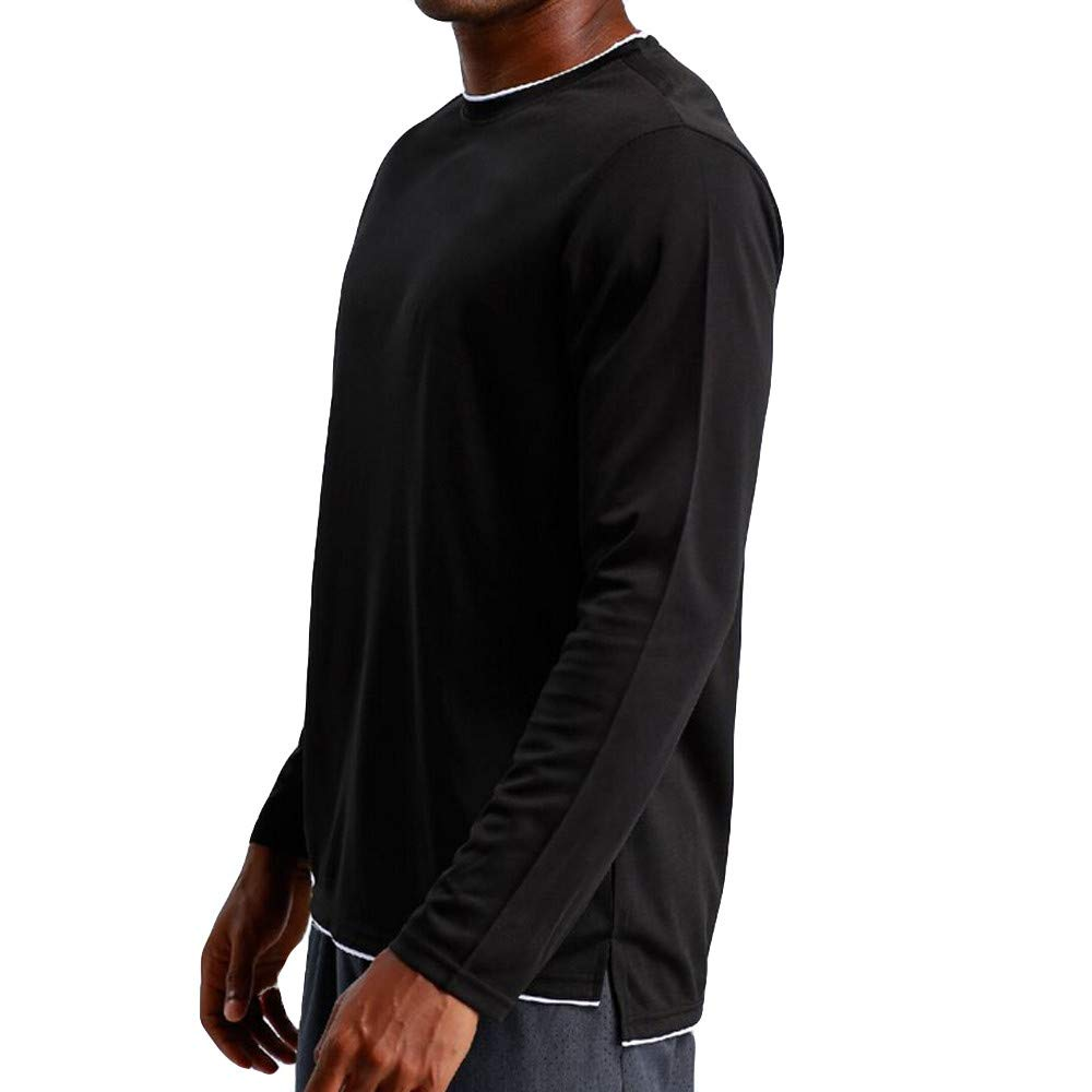 Cuekondy Mens Long Sleeve T-Shirt Base Layer Dry Fit Compression Top Sport Workout Fitness Athletic Shirts