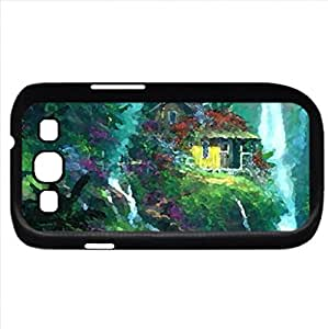 Paradise (Waterfalls Series) Watercolor style - Case Cover For Samsung Galaxy S3 i9300 (Black)