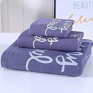 Bearony Suave Juego de 3 Toallas de baño absorbentes Toallas de Mano Set de Toallas de baño (Color : Azul): Amazon.es: Hogar