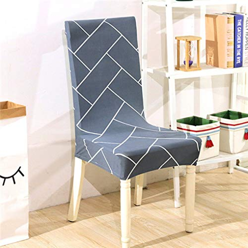 SGHOME Chair Covers 1pc One-Piece Spandex Elastic Printing Modern Removable Anti-Dirty Kitchen Banquet Seat Case ()