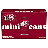 Dr Pepper Soda Mini Cans, 7.5oz Cans (15-Pack)