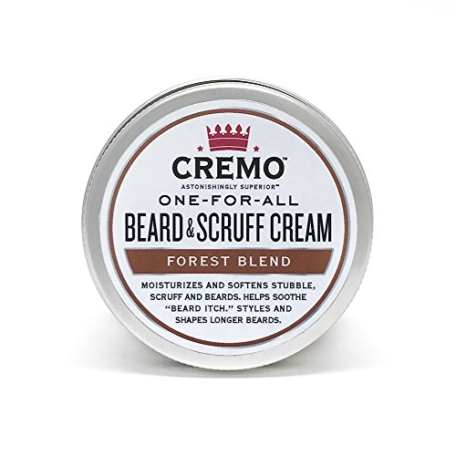 Cremo Beard & Scruff Cream, Forest Blend, Moisturizes, Styles And Reduces Beard Itch For All Lengths Of Facial Hair, 4 Ounces