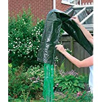 EFG Housewares Rotary Washing LINE Cover Clothes Airer Drier Protect Parasol Garden Waterproof, Green