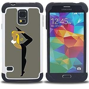 - ballet training sport yoga gymnastics woman/ H??brido 3in1 Deluxe Impreso duro Soft Alto Impacto caja de la armadura Defender - SHIMIN CAO - For Samsung Galaxy S5 I9600 G9009 G9008V