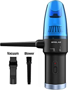 OPOLAR Newest Cordless Air Duster & Vacuum 2-in-1 for Computer Cleaning, Air Blower & Mini Vacuum, Better Choice for Compressed Air Canned Air Can of Air, Computer Keyboard Electronics Duster