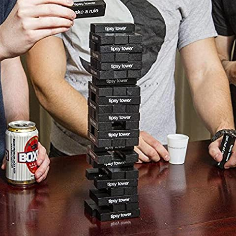 Tipsy Tower Drinking Game - 54 Blocks, over 35 Different Rules and Games - The Ultimate Adult Party Game